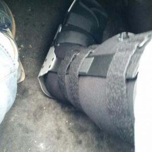 Terrible in-car foot selfie (felfie?)
